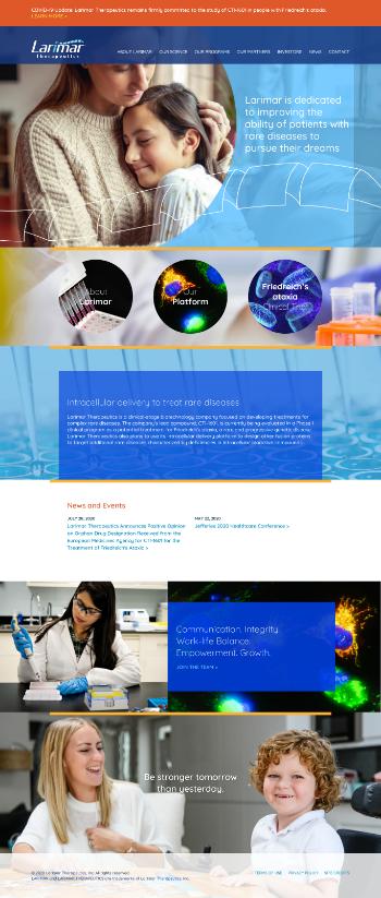 Larimar Therapeutics, Inc. Website Screenshot