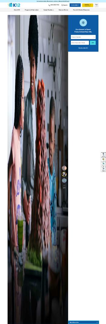 K12 Inc. Website Screenshot