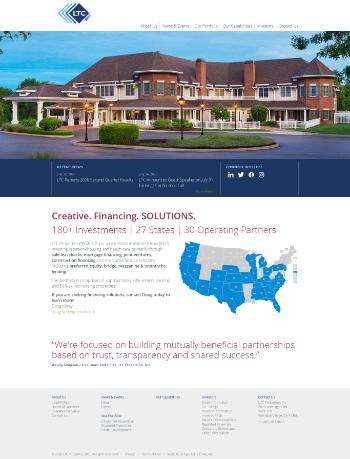 LTC Properties, Inc. Website Screenshot