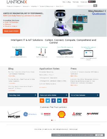 Lantronix, Inc. Website Screenshot
