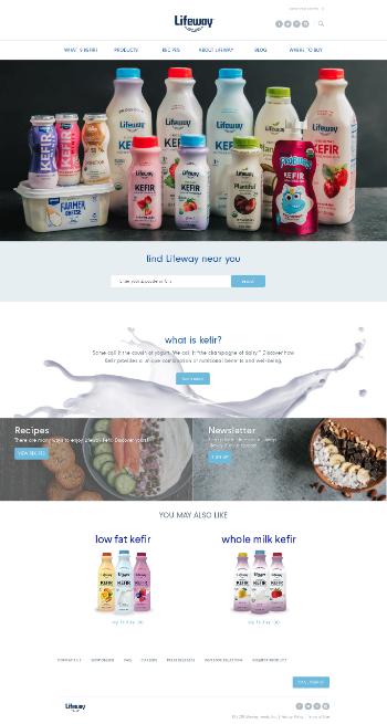 Lifeway Foods, Inc. Website Screenshot