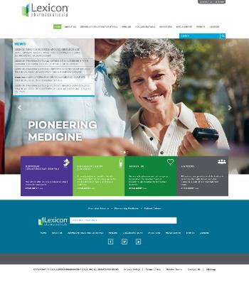 Lexicon Pharmaceuticals, Inc. Website Screenshot