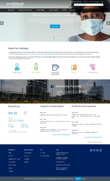 LyondellBasell Industries N.V. Website Screenshot