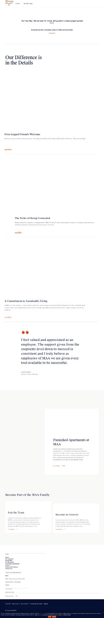 Mid-America Apartment Communities, Inc. Website Screenshot