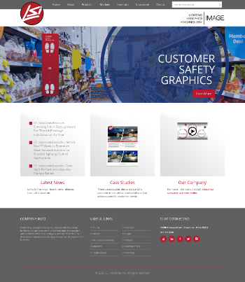 LSI Industries Inc. Website Screenshot