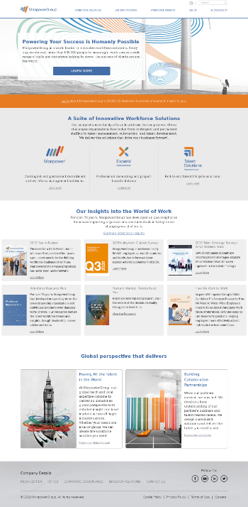 ManpowerGroup Inc. Website Screenshot