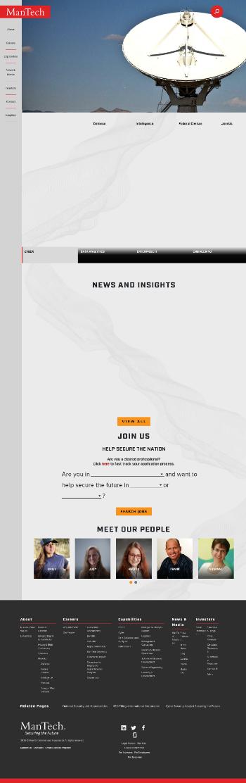 ManTech International Corporation Website Screenshot
