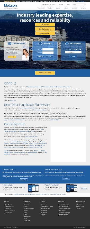 Matson, Inc. Website Screenshot