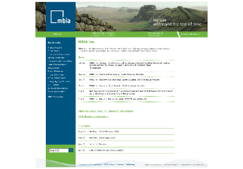 MBIA Inc. Website Screenshot