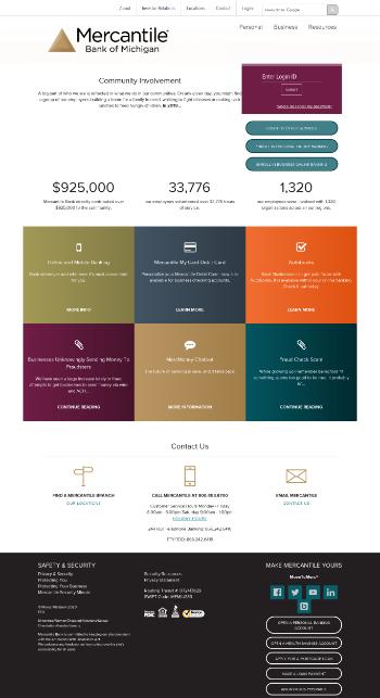 Mercantile Bank Corporation Website Screenshot