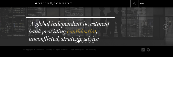 Moelis & Company Website Screenshot