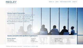 Medley Capital Corporation Website Screenshot