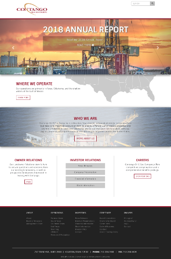Contango Oil & Gas Company Website Screenshot