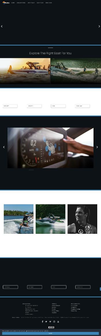 Malibu Boats, Inc. Website Screenshot