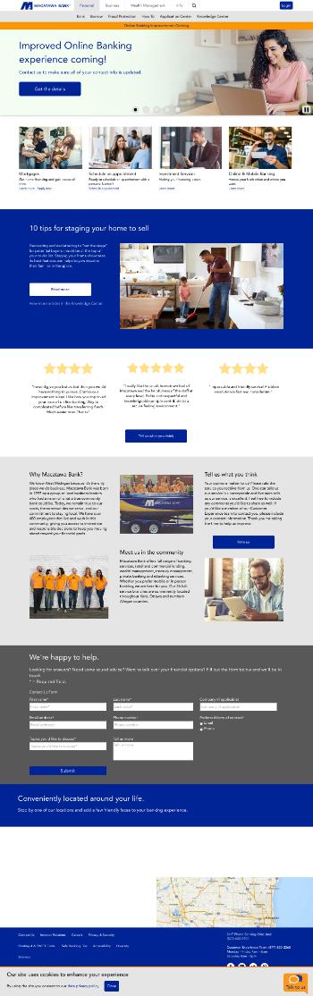 Macatawa Bank Corporation Website Screenshot