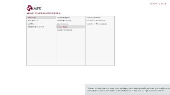 MFS Charter Income Trust Website Screenshot