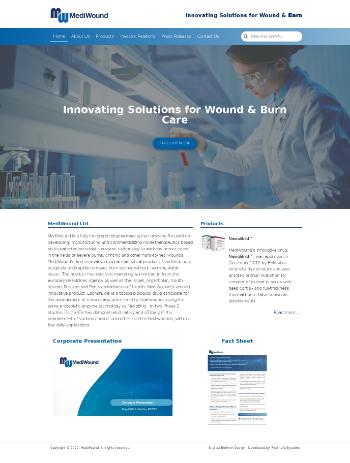 MediWound Ltd. Website Screenshot