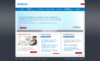 Anthem, Inc. Website Screenshot