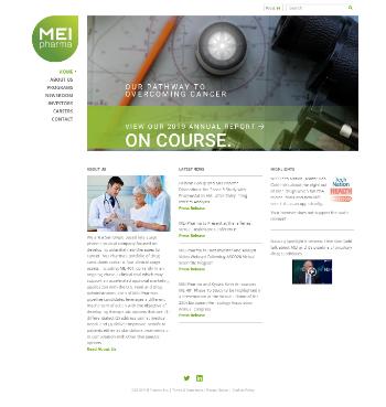 MEI Pharma, Inc. Website Screenshot