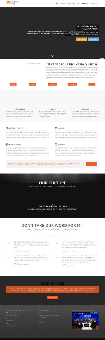 Trxade Group, Inc. Website Screenshot