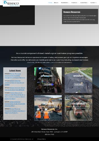 Ramaco Resources, Inc. Website Screenshot