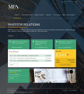 MFA Financial, Inc. Website Screenshot