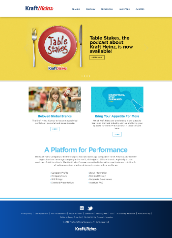 The Kraft Heinz Company Website Screenshot