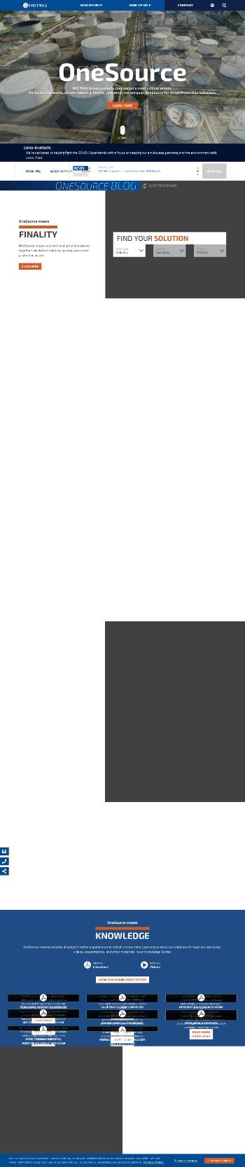 Mistras Group, Inc. Website Screenshot