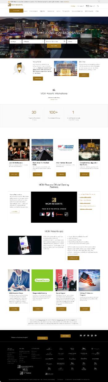 MGM Resorts International Website Screenshot