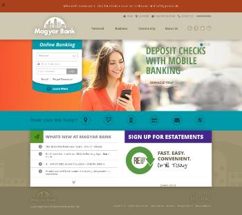Magyar Bancorp, Inc. Website Screenshot