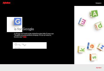 Alphabet Inc. Website Screenshot