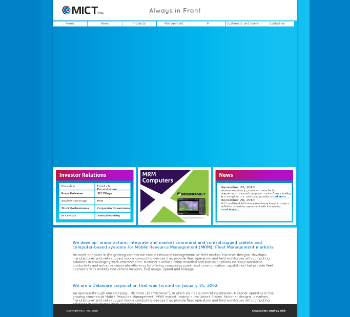 MICT, Inc. Website Screenshot