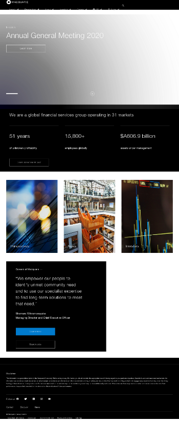 Macquarie Infrastructure Corporation Website Screenshot