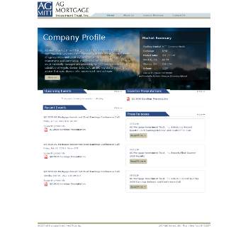 AG Mortgage Investment Trust, Inc. Website Screenshot