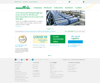 Air Products and Chemicals, Inc. Website Screenshot