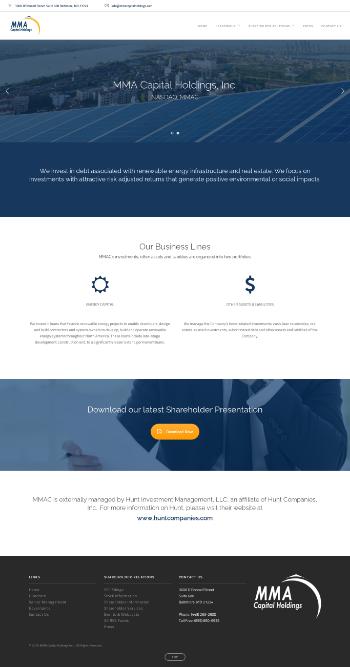 MMA Capital Holdings, Inc. Website Screenshot