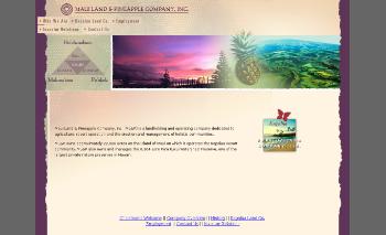 Maui Land & Pineapple Company, Inc. Website Screenshot
