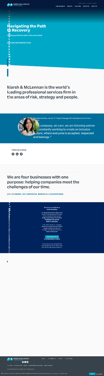 Marsh & McLennan Companies, Inc. Website Screenshot