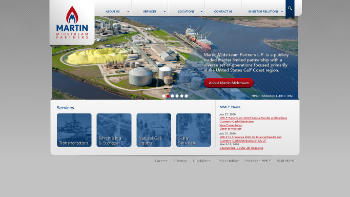 Martin Midstream Partners L.P. Website Screenshot