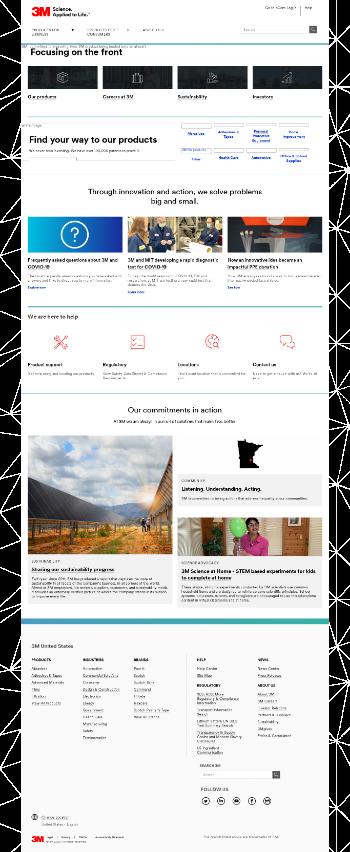 3M Company Website Screenshot