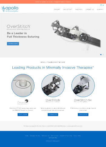 Apollo Endosurgery, Inc. Website Screenshot