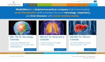 MediciNova, Inc. Website Screenshot