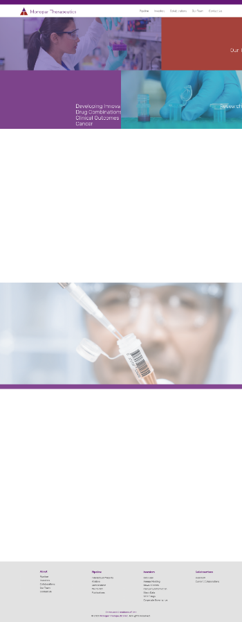 Monopar Therapeutics Inc. Website Screenshot