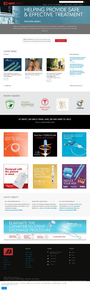 Merit Medical Systems, Inc. Website Screenshot