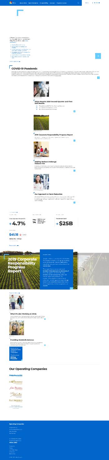 Altria Group, Inc. Website Screenshot