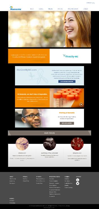 Momenta Pharmaceuticals, Inc. Website Screenshot