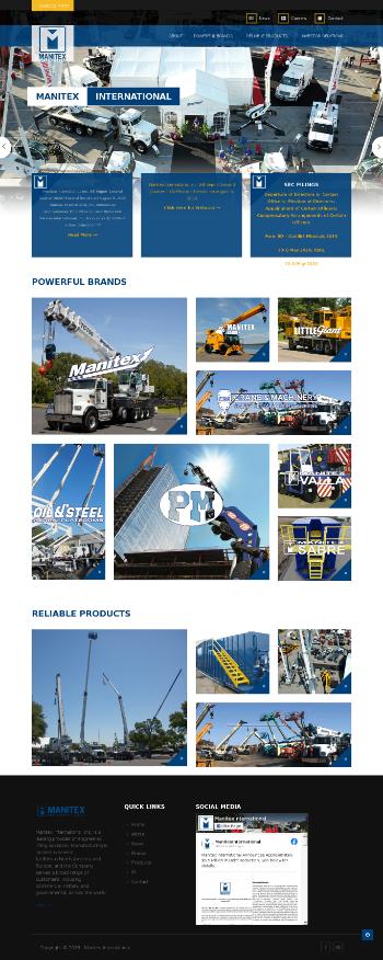 Manitex International, Inc. Website Screenshot