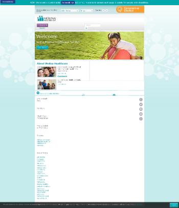 Molina Healthcare, Inc. Website Screenshot