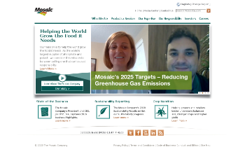 The Mosaic Company Website Screenshot
