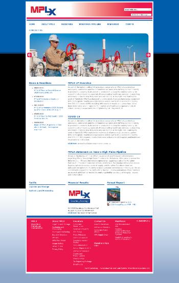 MPLX LP Website Screenshot